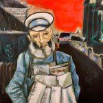 "Марк Шагал (копия: Р. Зинатова) ""Продавец газет"""