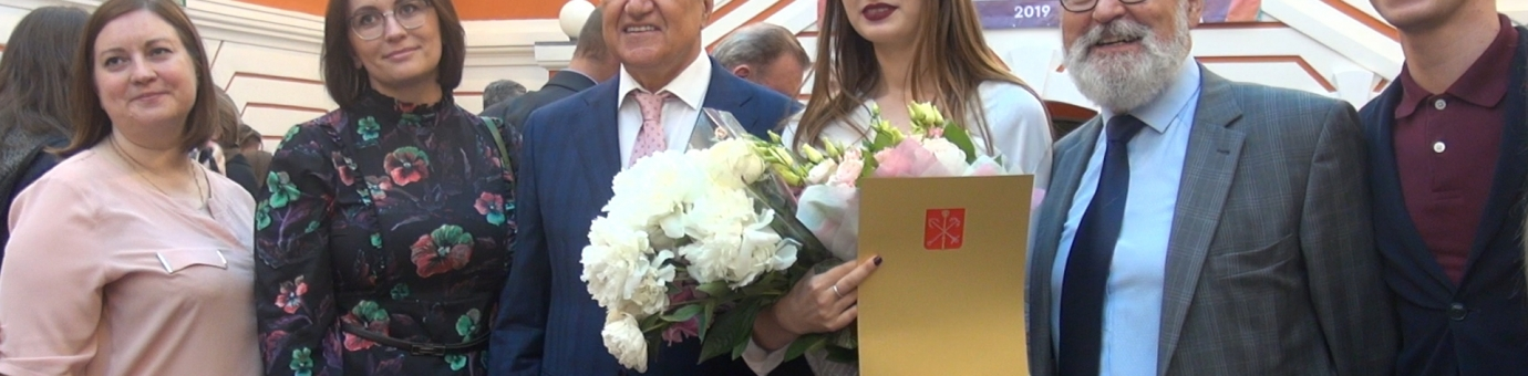 Выпускницу ФСТ наградили знаками отличия на Церемонии чествования лучших выпускников вузов Санкт-Петербурга
