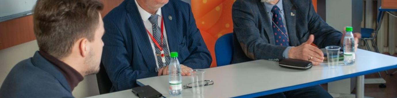На ФСТ прошла встреча с государственным герольдмейстером России – Георгием Вилинбаховым