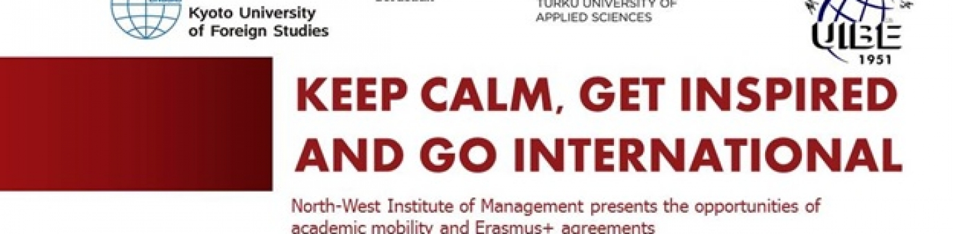 KEEP CALM, GET INSPIRED AND GO INTERNATIONAL